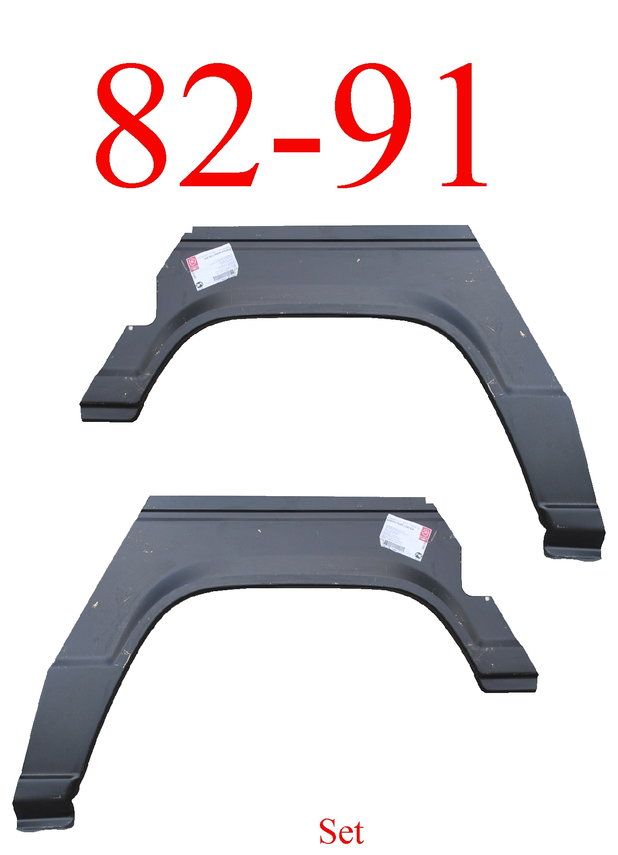 82-91 Mitsubishi Montero 2Dr Rear Upper Arch & Dog Leg Set